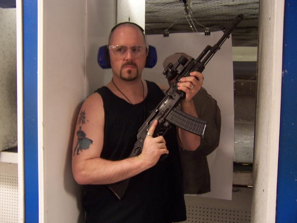 Osama Bin Laden Shooting Ak 47 Las Vegas Mini-Moon